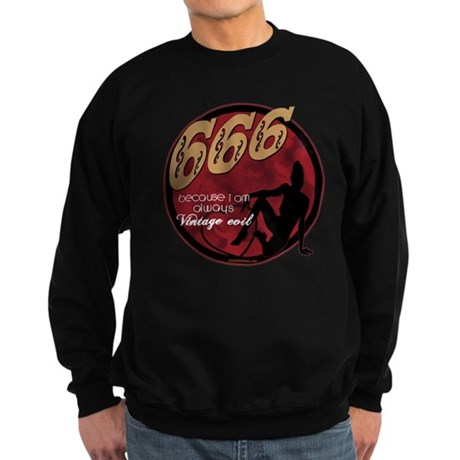 666 Devilish Sign Female Sweatshirt (dark)