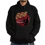 666 Devilish Sign Female Hoodie (dark)