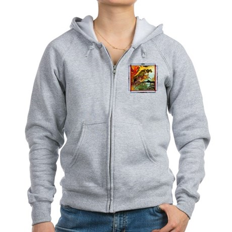 Demonic Illustration Women's Zip Hoodie