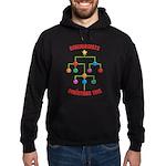 Genealogists Christmas Tree Hoodie (dark)