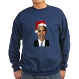 Santa Obama Dark Sweatshirt