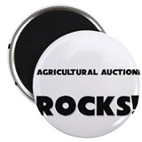 "MY Agricultural Auctioneer ROCKS! 2.25"" Magnet (10"