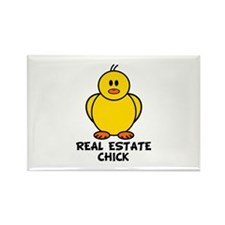 Real Estate Chick Rectangle Magnet
