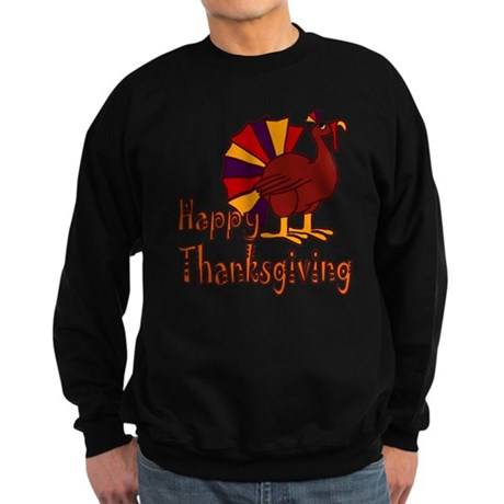 Funny Happy Thanksgiving Sweatshirt (dark)