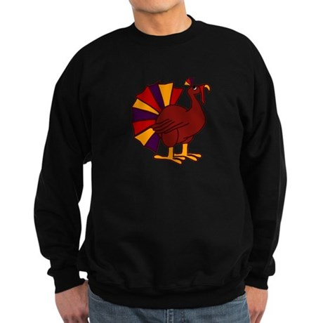 Funny Thanksgiving Turkey Sweatshirt (dark)