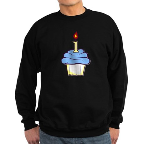 1st Birthday Cupcake (boy) Sweatshirt (dark)