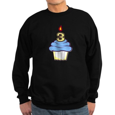 3rd Birthday Cupcake (boy) Sweatshirt (dark)