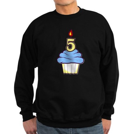 Boy Cupcake 5th Birthday Sweatshirt (dark)