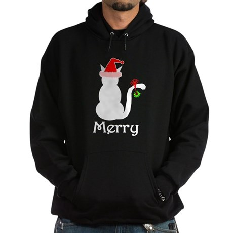 Merry Cat Christmas Hoodie (dark)