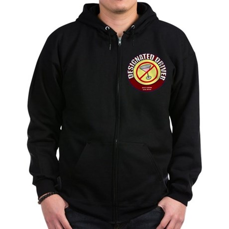 Designated Driver t-shirt Zip Hoodie (dark)