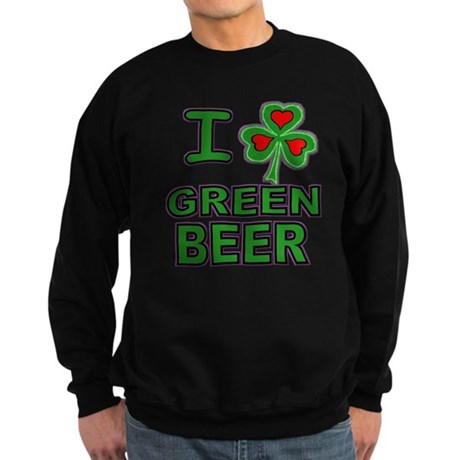 I Shamrock Heart Green Beer Sweatshirt (dark)