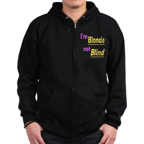 Blonde not Blind Zip Hoodie (dark)