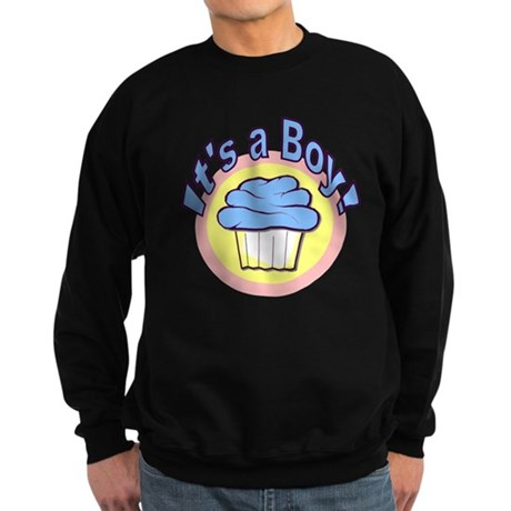 It's a Boy Cupcake Sweatshirt (dark)