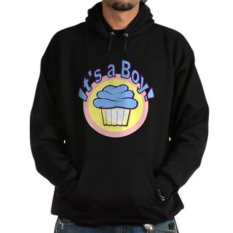 It's a Boy Cupcake Hoodie (dark)
