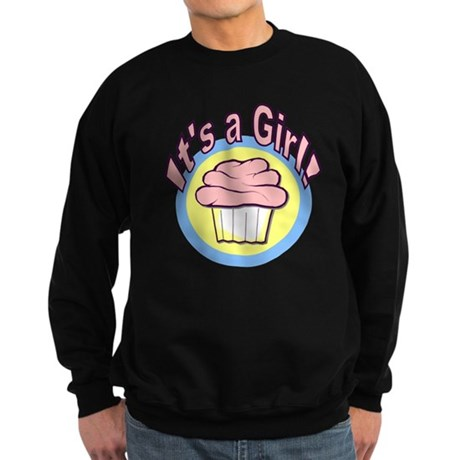 It's a Girl Cupcake Sweatshirt (dark)
