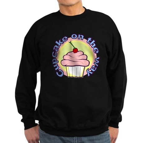 Cupcake on the Way Sweatshirt (dark)