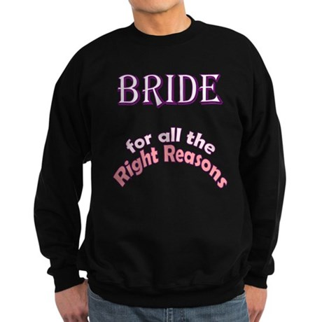 Pregnant Bride Sweatshirt (dark)