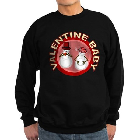 Valentine's Day Baby Sweatshirt (dark)
