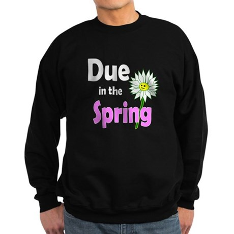 Due in Spring t-shirt Sweatshirt (dark)