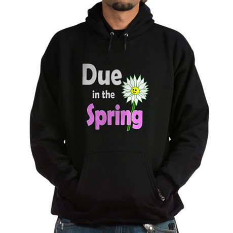 Due in Spring t-shirt Hoodie (dark)