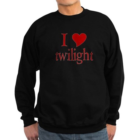 I love (heart) twilight Sweatshirt (dark)