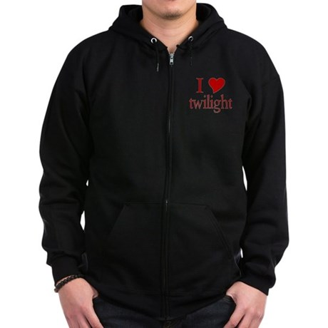 I love (heart) twilight Zip Hoodie (dark)