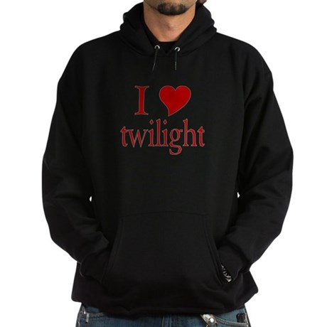I love (heart) twilight Hoodie (dark)