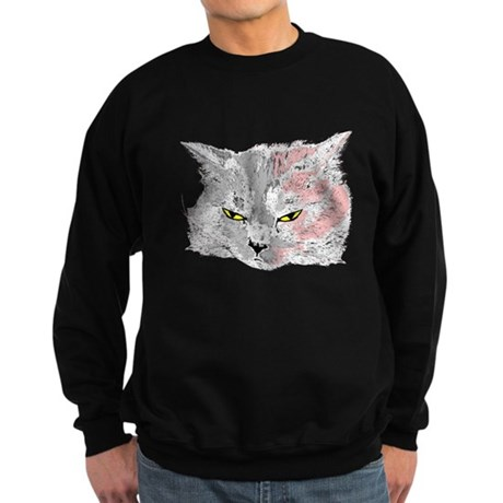 Pop Art Cat Sweatshirt (dark)