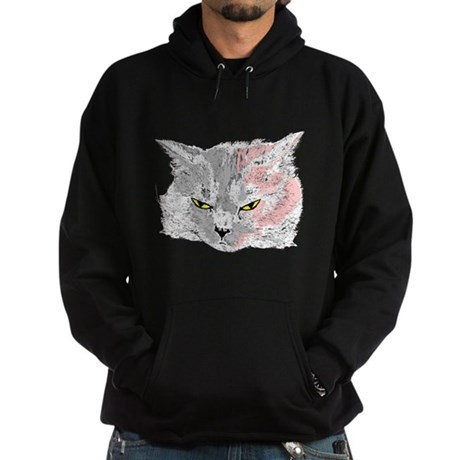 Pop Art Cat Hoodie (dark)