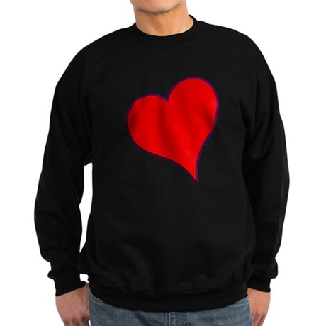 Big Red Heart Valentine Sweatshirt (dark)