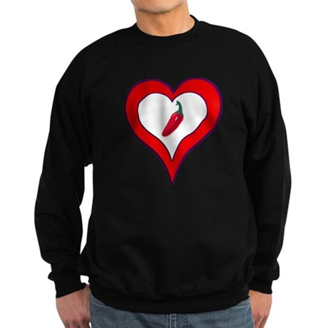 Red Hot Pepper Valentine Sweatshirt (dark)