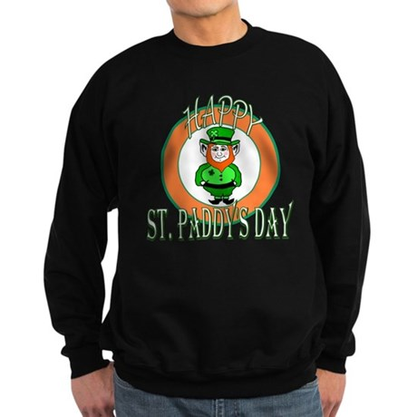 Leprechaun Happy St Paddy's Sweatshirt (dark)