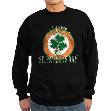 Happy St Patricks Day Shamroc Sweatshirt (dark)