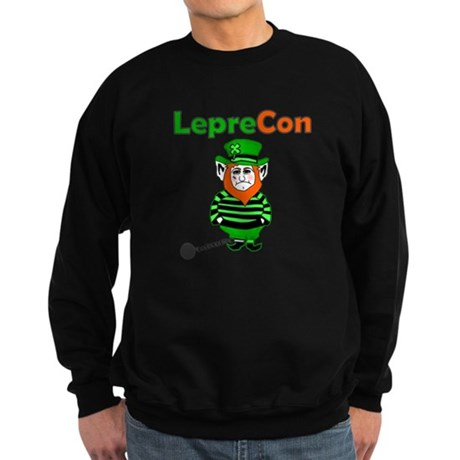 Funny Leprechaun Convict Sweatshirt (dark)