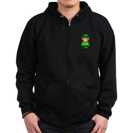 Happy Leprechaun Zip Hoodie (dark)