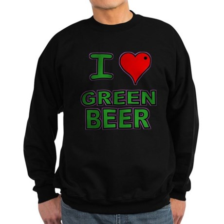I heart Green Beer Sweatshirt (dark)
