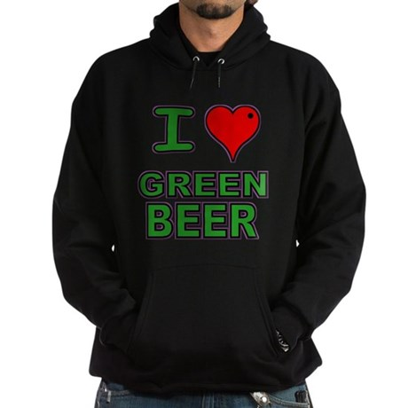 I heart Green Beer Hoodie (dark)
