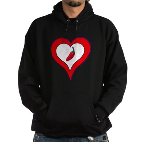 Red Hot Pepper Valentine Hoodie (dark)