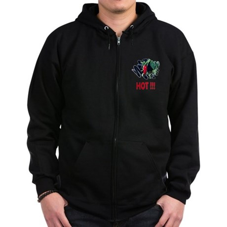 Red HOT Pepper Zip Hoodie (dark)