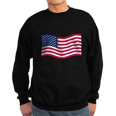 US Waving Flag Sweatshirt (dark)