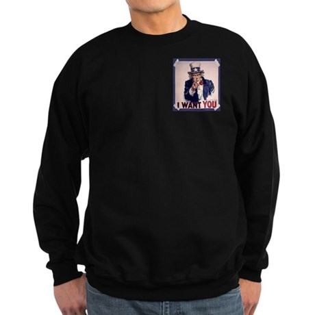Uncle Sam Poster Sweatshirt (dark)