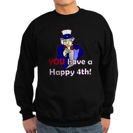 Uncle Sam Happy 4th Sweatshirt (dark)