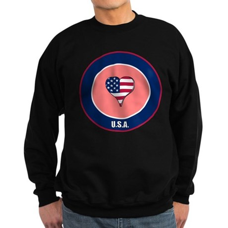 I heart USA t-shirt Sweatshirt (dark)