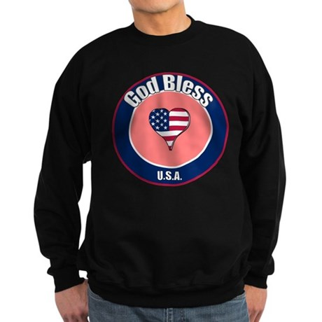 God Bless the USA t-shirt Sweatshirt (dark)