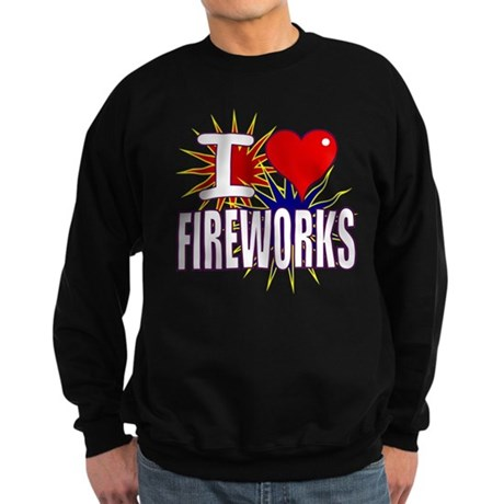 I heart fireworks Sweatshirt (dark)