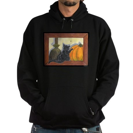 Halloween Cat - Just the Art, Hoodie (dark)