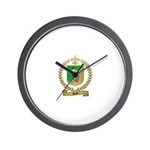 SALLE Family Crest Wall Clock