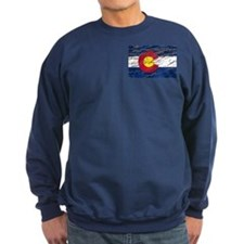 Colorado retro wash flag Sweatshirt (dark)