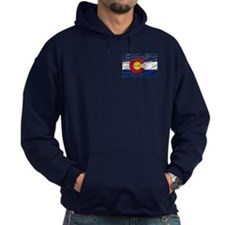 Colorado retro wash flag Hoodie (dark)
