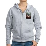 Black Footed Wallaby Women's Zip Hoodie